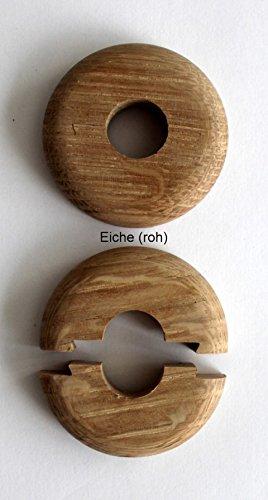22mm Echtholz: Ahorn Rohrabstand variabel Mahagoni 5 ST/ÜCK Doppel-Rosette f/ür Heizungsrohre Buche Nuss 15mm, Buche Holz Abdeckung f/ür Heizungsrohre 19mm Eiche Kirsche Heizung 15mm