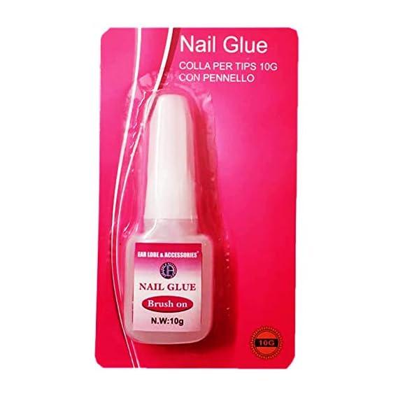 Brush On Glue 10ml Acrylic Nail Art Glue For French False Tips And Rhinestones Manicure