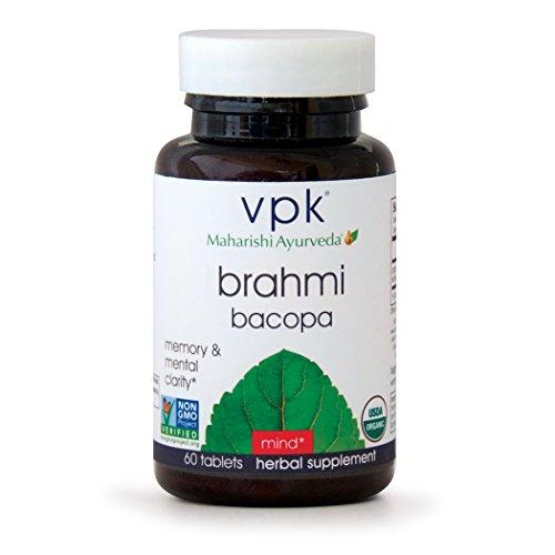 Organic Brahmi   60 Herbal Tablets   Natural Brain Tonic for Mental Clarity & Optimal Mental Functioning