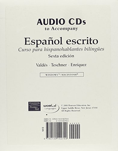 Audio CDs for Español escrito: Curso para hispanohablantes bilingües