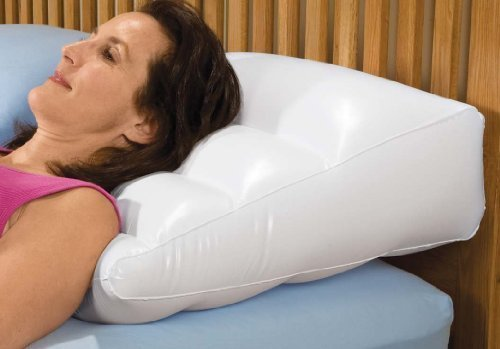 Inflatable Pillow Graduated High , Wedge , Vinyl - Color White , Amazing for Head , Legs , Back