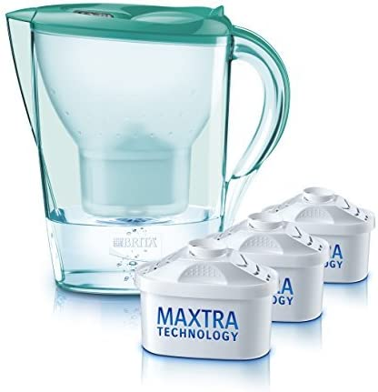 BRITA Marella Cool Water Filter Jug with 3 Cartridges - Mint Green, Starter Pack by BRITA: Amazon.es: Hogar