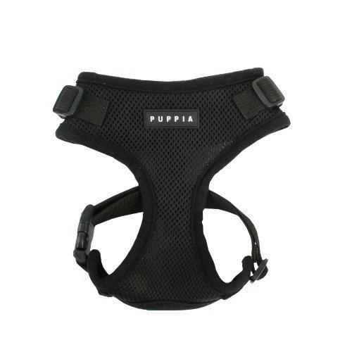 Authentic Puppia RiteFit Harness with Adjustable Neck, Black, Medium by Puppia Int'l Inc.