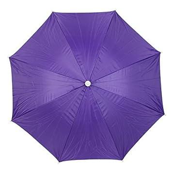 Pesca plegable DealMux pescadores elástico Cinta de cabeza sin manos del paraguas sombrero púrpura oscuro