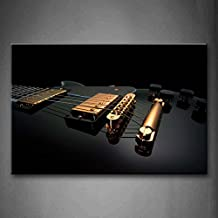 Golden Material Of Guitar Seems Noble Wall Art Painting The Picture Print On Canvas Music Pictures For Home Decor Decoration Gift