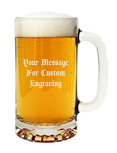 Personalized Libbey 5092 Beer Mug Tankard Engraved with Your Custom Text | 16oz Glass Beer Mug Custom Engraved with Your Text
