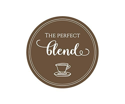 100 CT Wedding The Perfect Blend Favor Stickers. Wedding Favor Stickers for Coffee, Thank You Stickers, Party Favor Stickers