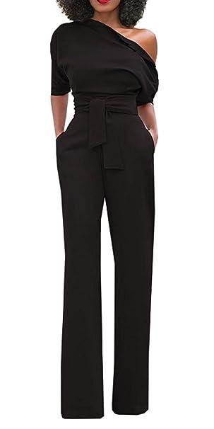 Amazon.com: Top Take - Traje de mujer de pierna ancha con ...