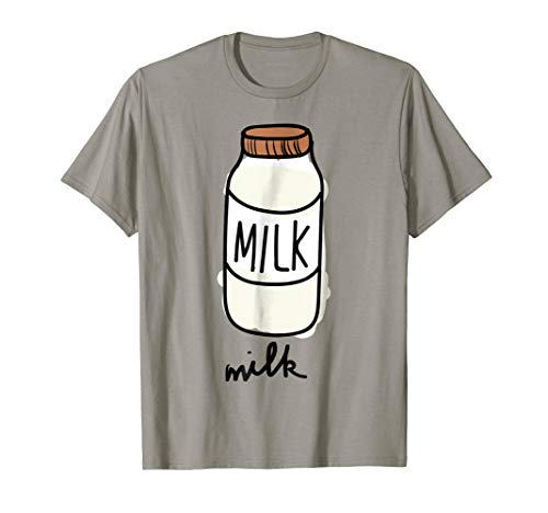 Milk Carton T-Shirt Milky Match Pair with Cookie Costume ()