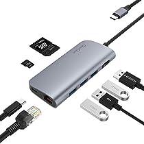 USB C ハブ Type C HUB 多機能 SDカードリーダーアダプター 4k ...