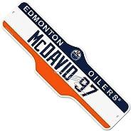 NHLPA Edmonton Oilers Deluxe Street Sign - McDavid