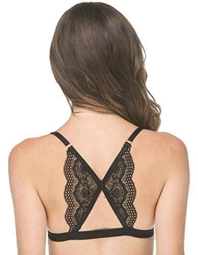 abb073c7fd Modern Boho Lace Back Front Closure Bralette (for A-C Cups) Wireless Bra