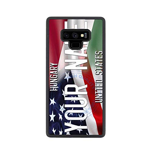 - BRGiftShop Personalize Your Own Mixed USA and Hungary Flag Rubber Phone Case For Samsung Galaxy Note 9