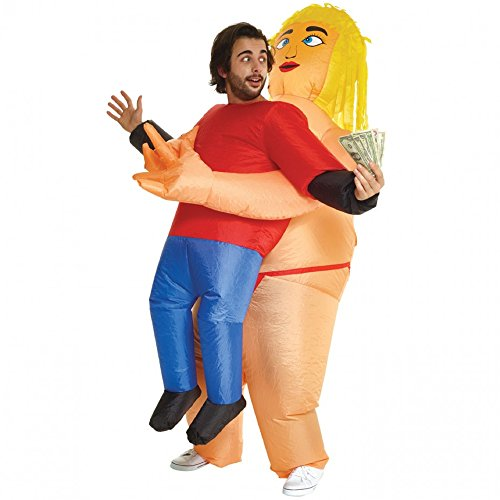 Fat Stripper Pick Me Up Inflatable Blow Up Costume - One size fits -