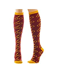 Ladie's Harry Potter Licensed Knee High Socks (Various Designs) (Glasses)
