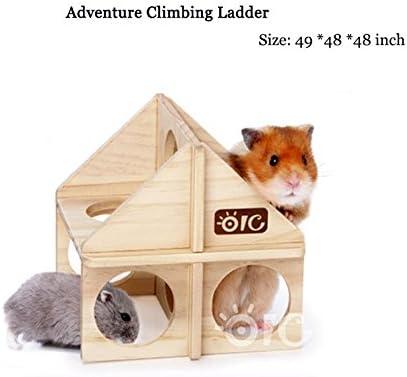Madera roedores Pet), ratón rata hamster cobayas Escalera Escalada juguetes: Amazon.es: Productos para mascotas