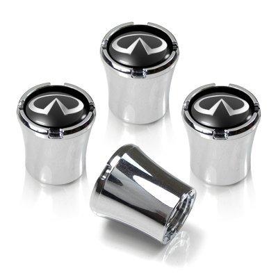 Logo Chrome Tire Stem - Infiniti Logo Chrome Tire Stem Valve Caps