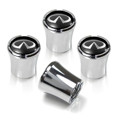 Infiniti Logo Chrome Tire Stem Valve Caps