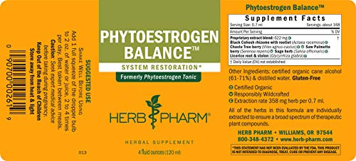 Herb Pharm Phytoestrogen Balance Liquid Herbal Formula for Female Reproductive System Support - 4 Ounce by Herb Pharm (Image #1)