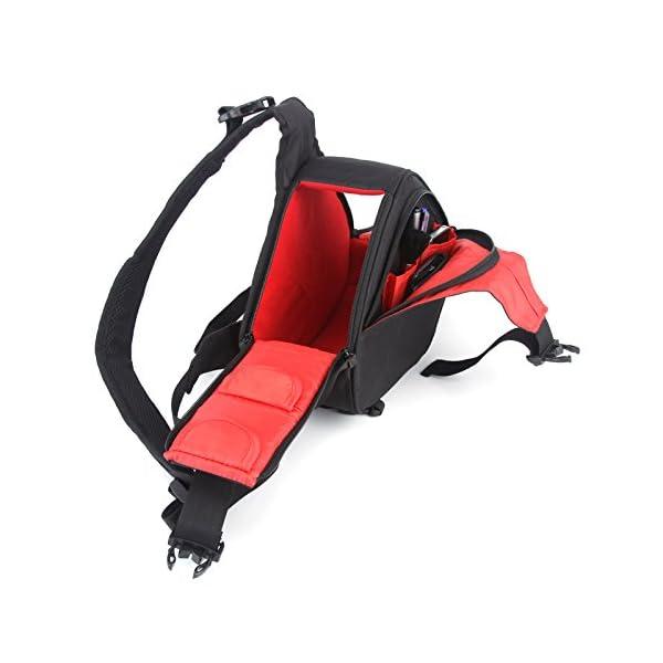 Caden K1 Waterproof Fashion Casual DSLR Camera Bag Case Messenger Shoulder Bag per Canon Nikon Sony (Nero) 5 spesavip