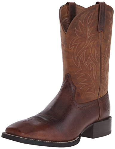 Cowboy Western Boots Riding - Ariat Men's Sport Western Cowboy Boot, Fiddle Brown/Powder Brown, 8 D(M) US