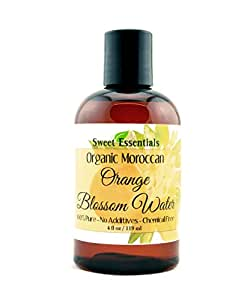 Premium Organic Moroccan Orange Blossom (Neroli) Water | 4oz Imported From Morocco | Food Grade | Packed With Natural Antioxidants | Perfect for Reviving, Hydrating and Rejuvenating Your Face and Neck