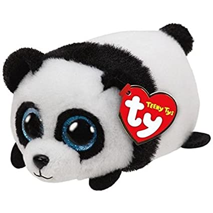 Amazon.com  Ty Beanie Boos - Teeny Stackable Plush - PUCK the Panda ... 9c855d62571