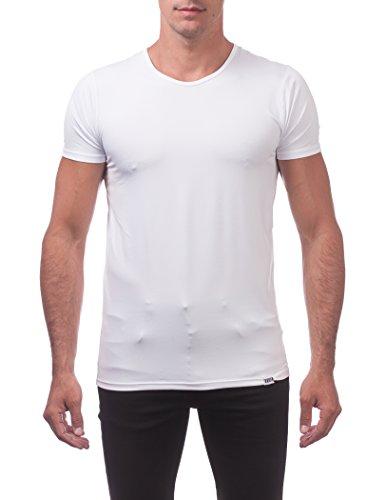 (Pro Club Men's Performance Compression Short Sleeve T-Shirt, Snow White, Large)