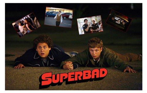 (Superbad Movie Art Print - Movie Memorabilia - 11x17 Poster, Vibrant Color, Features Jonah Hill, Michael Cera, Seth Rogen, Bill Hader, Christopher Mintz-Plasse.)
