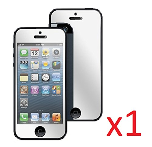 eTECH Collection 1 Pack of Mirror Reflected Style Screen Protector for Apple iPhone 5/5S/5C -- Free Shipping from USA by E-tech (Image #1)