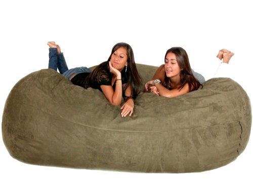 Cozy Sack 8-Feet Bean Bag Chair, X-Large, Olive