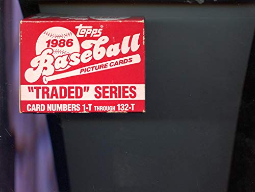 1986 Topps Traded Baseball Complete Box Set Barry Bonds Rookie Card Jose Canseco
