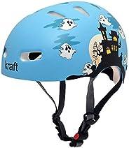 Capacete Kraft Fantasminha Azul - Skate / Patinete / Scooter Elétrica, Kraft Capacetes, G