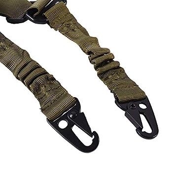Color : Dark Brown NO LOGO L-Yune Port/átil Arma de la Caza de la Correa de m/últiples Funciones de Nylon t/áctico Honda del Rifle al Aire Libre Airsoft Bungee Kit H1