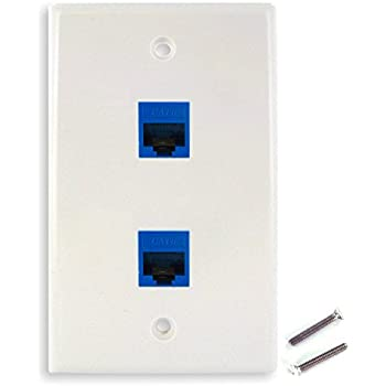 Amazon.com: RCA RJ45 Wall Plate - White (TPH552R): Home Audio & Theater