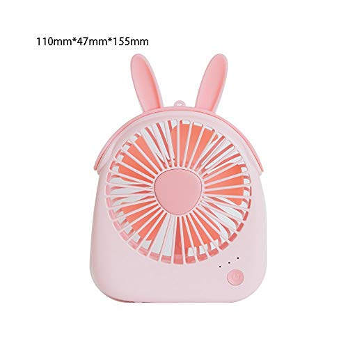 (Marching orchid Creative USB Fan Mini Portable Mute Small Fan Cute with Lanyard Hand-held Small Electric Fan Summer Travel Essential (Multi Style) (Color : Pink))