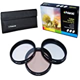 Polaroid Optics 3 Piece Special Effect Lens Filter Kit (Soft Focus, Revolving 4 Point Star, Warming) For The Nikon D40, D40x, D50, D60, D70, D80, D90, D100, D200, D300, D3, D3S, D700, D3000, D5000, D3100, D3200, D3300, D7000, D5100, D4, D4s, D800, D800E, D600, D610, D7100, D5200, D5300 Digital SLR Cameras Which Have Any Of These (18-55mm, 55-200mm, 50mm, 40mm, 28mm) Nikon Lenses
