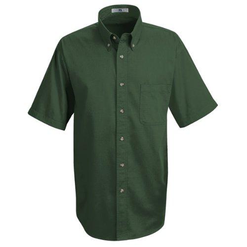 Lee Men's Meridian Performance Twill Shirt Emerald 5.0oz Short Sleeve (Womens Short Sleeve Twill Shirt)