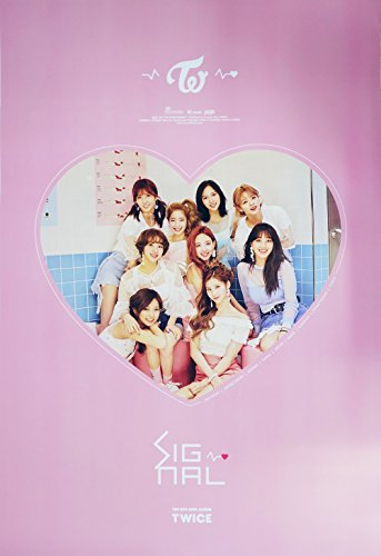 JYP Entertainment TWICE - SIGNAL (4th Mini Album) [B ver.] OFFICIAL POSTER with Tube Case 30 x 20.5 inches