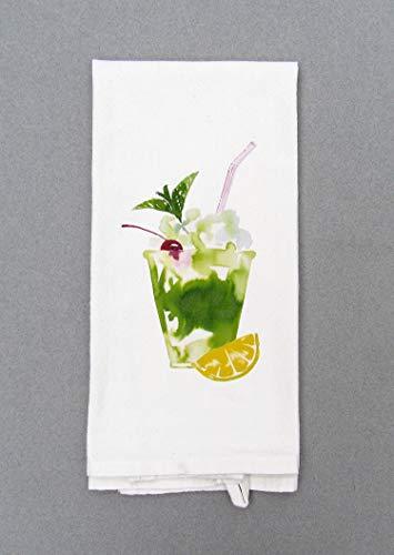 Mint Julep Kentucky Derby Tea Towel, Kitchen Decor, Hand Towel, Dish Cloth ()