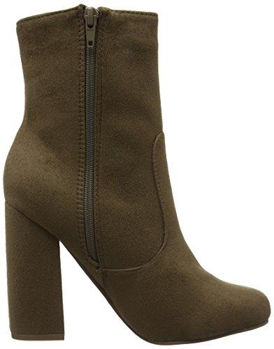 Boohoo Chunky Heel, Botines Para Mujer marrón (Taupe)