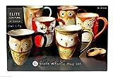 Gibson Elite Couture Owl City 6 Piece Ceramic Mug Set