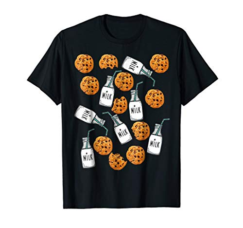 Chocolate Chip Cookies and Milk Funny Costume T-Shirt ()