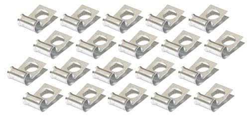 3/8 Brake Fuel Tube Set .375 Wrap Around Line Clamp Clip (20 Pack) Galvanized (EB 0 4)