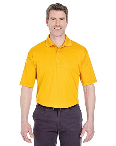 (UltraClub 8425 Performance Interlock Polo Gold 6X-Large)