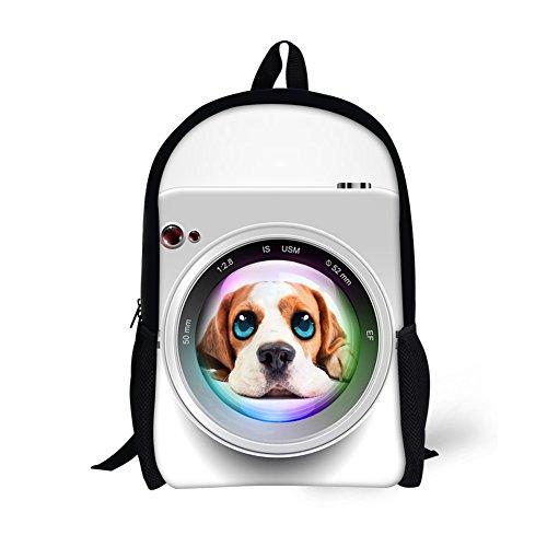 CHAQLIN Cool 3D Animals Bookbag Childrens School Backpack