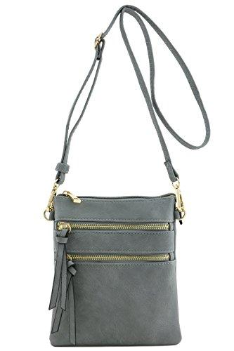 Bag Pocket Multi Functional Crossbody Grey qFftUn