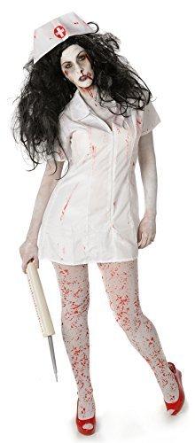 Zombie Nurse Ladies Fancy Dress Womens Adults Horror Halloween Costume (Large UK 18 -20) by My -