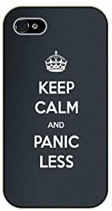 iPhone 5C Keep calm and panick less - black plastic case / Keep calm