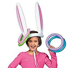 Inflatable Easter Bunny Ears Rabbit Hat Ring Toss Party Game